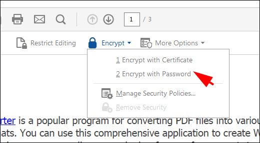 How to Set PDF Owner Password and Open Password