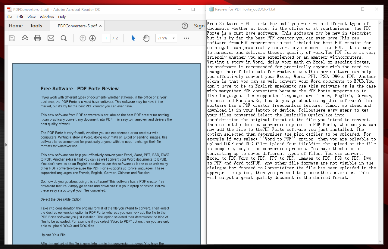 all pdf converter turns scanned pdf into editable txt file